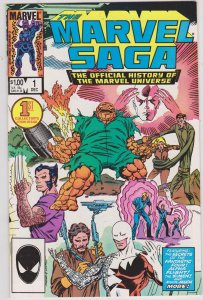 The Marvel Saga The Official History of the Marvel Universe #1 (1985)