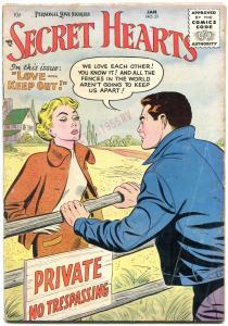 SECRET HEARTS #31 1956-DC ROMANCE VG