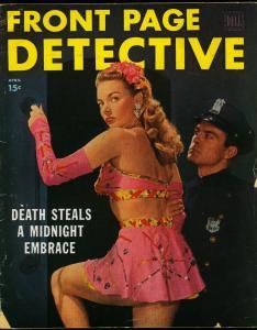Front Page Detective Magazine April 1948- Photo cover- Pulp Crime VG