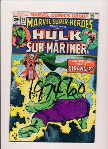 Marvel Super-Heros ft.THE INCREDIBLE HULK and Sub-Mariner #44  FINE (SRU543)