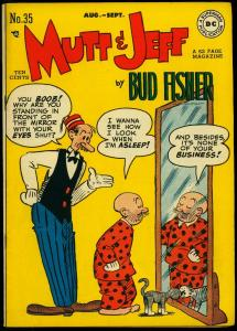 Mutt & Jeff #35 1948- DC Golden Age- Scribbly #1 full page ad FN/VF