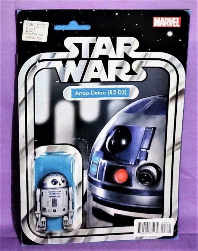 John Christopher STAR WARS #6 R2-D2 Action Figure Variant Cover (Marvel, 2015)!