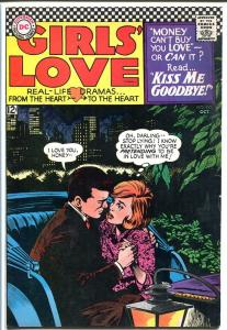 GIRLS' LOVE STORIES #122-HANSOME CAB RIDE COVER FN