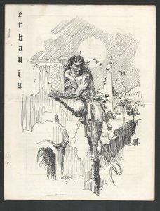 Erbania #14 1963-Edgar Rice Burroughs & Tarzan Fanzine-Cover by Roy Krenkel-F...
