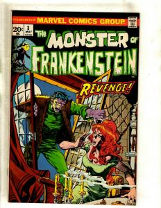 Monster Of Frankenstein # 3 FN/VF Marvel Comic Book Mike Ploog Cover Horror RS1