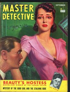 MASTER DETECTIVE SEP 1940-FN-MYSTERY OF THE GOOD GIRL AND THE STALKING OGRE! FN