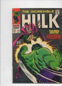 HULK 107, VG+, Bruce Banner, Mandarin, Shield, Giant  Android, Marvel, 1968