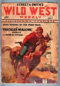 WILD WEST WEEKLY-3/9/1935-PULP-RECKLESS MALONE! FR/G