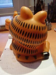 Garfield toy Plastic Type Piggy Bank Figura Plástico Tipo Alcancía
