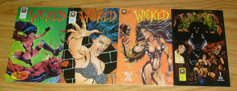 Wicked #1-4 VF/NM complete series - millennium comics bad girl vampire 2 3 set