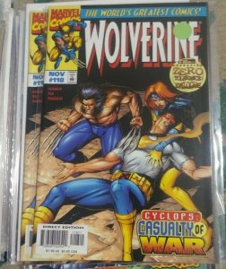 WOLVERINE # 118 1997 marvel  OPERATION ZERO TOLERANCE + X MEN CYCLOPS