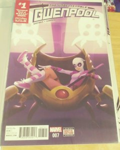 UNBELIEVABLE GWENPOOL #7  2016 MARVEL GWEN STACY +HEAD OF MODOK  HASTINGS