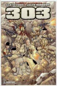 303 Preview, NM+, Garth Ennis, Burrows, Rifle, Avatar, 2004, more Ennis in store