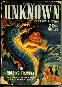 Unknown 5/1940-Srtreet & Smith-horror cover-pulp thrills-Ed Cartier-G