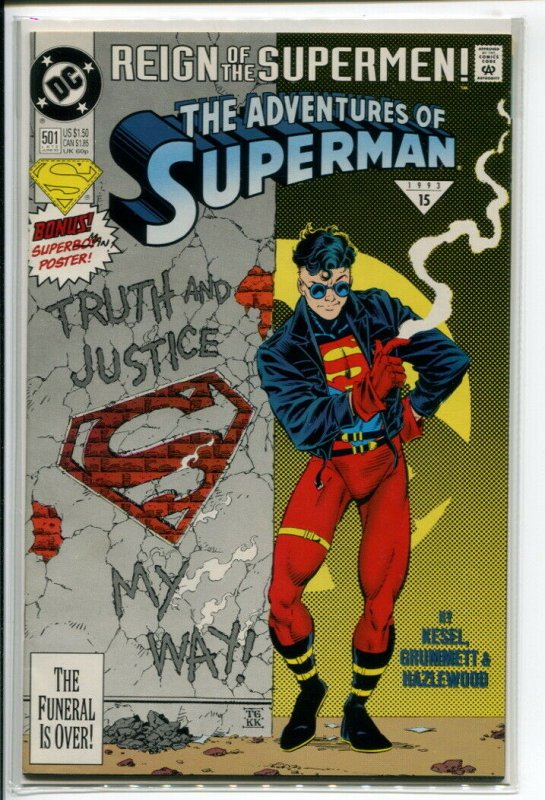 ADVENTURES OF SUPERMAN (1987 DC) #501 VF/NM A13813