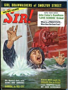 Sir! Magazine March 1961- Hamburg Vice City- Jeri Fitzgerald- Casey Stengal