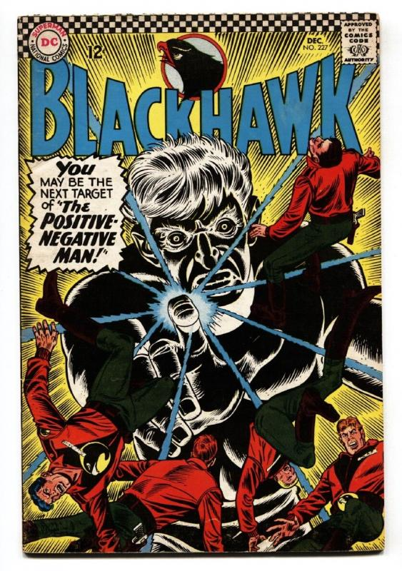 BLACKHAWK #227 1966-DC-POSITIVE-NEGATIVE MAN-comic book