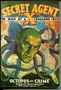 Secret Agent X  1977-Reprint of the pulp novel Octopus of Crime-VG/FN