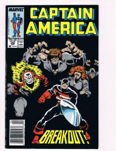 Captain America # 340 Marvel Comic Books Hi-Res Scan Modern Age Awesome Issue S5