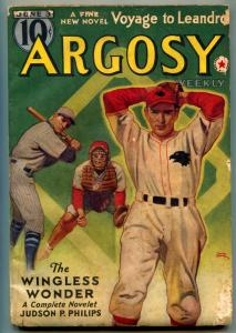 Argosy Pulp June 3 1939- Wingless Wonder- Kjelgaard VG