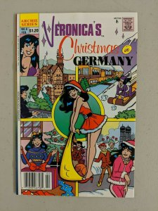 Veronica #6 (Archie Comics 1989) Christmas in Germany Sexy Santa Outfit - (6.5)