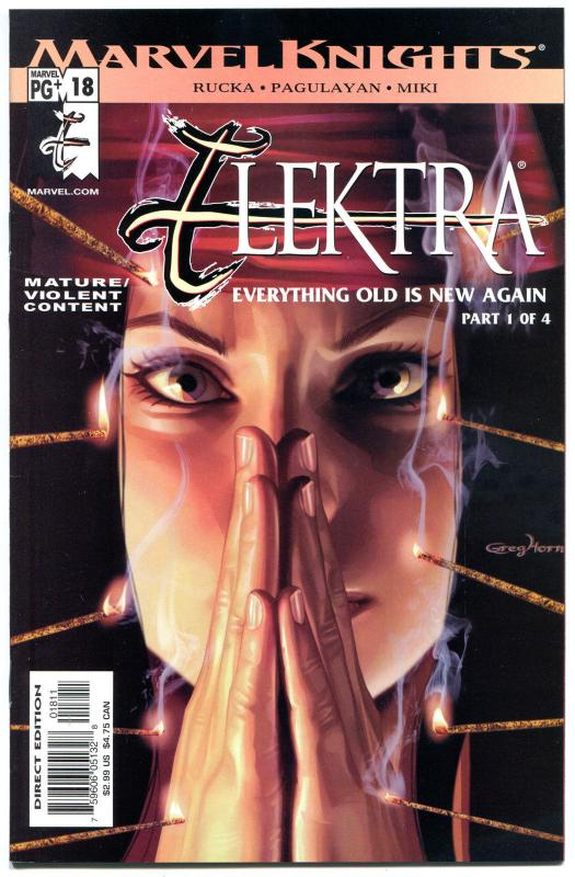 ELEKTRA #18, NM+, Greg Horn, Sai, Martial Arts, Femme Fatale, 2001.more in store