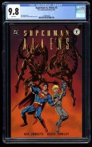 Superman vs. Aliens #2 CGC NM/M 9.8 White Pages