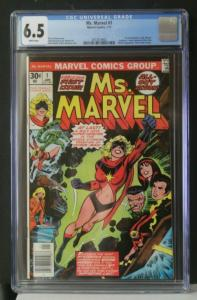 MS. MARVEL #1 CGC 6.5 Graded 1st Carol Danvers as Ms. Marvel Key White Pages