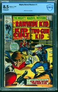 Mighty Marvel Western #7 CBCS VF+ 8.5 Off White to White