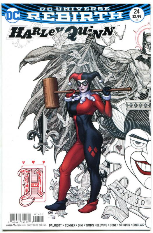 HARLEY QUINN #24, NM, Rebirth, Amanda Conner, Frank Cho, 2016, more HQ in store