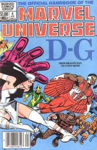 Official Handbook of the Marvel Universe (1983 series) #4, VF (Stock photo)