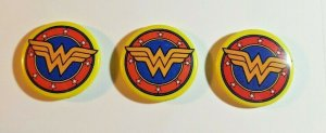 LOT OF 3 WONDER WOMAN pin DC comics PROMO pinback button BRAND NEW