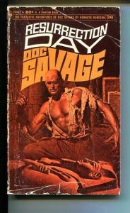 DOC SAVAGE-RESURRECTION DAY-#36-ROBESON-G-JAMES BAMA COVER-1ST EDITION G