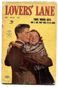 Lovers' Lane #19 comic book 1951- Golden Age Romance- Three Wrong Guys