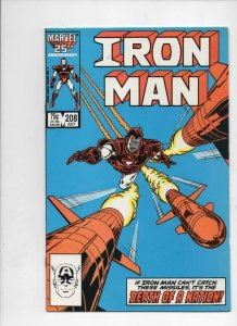 IRON MAN #208, VF+ Tony Stark, FireFang, 1968 1986, more IM in store, Marvel
