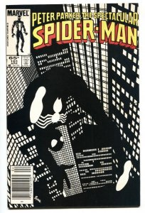Spectacular Spider-Man #101 1985- Black costume Newsstand variant