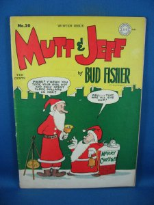 MUTT AND JEFF 20 F- CHRISTMAS COVER 1945