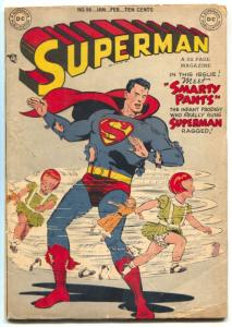 Superman Comics #56 1949- PRANKSTER- DC Golden Age VG