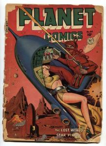 Planet Comics #65 GGA rocket cover-1951- Fiction House Golden Age