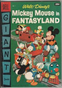 Dell Giant Mickey Mouse In Fanstasyland #1 (Jan-57) FN+ Mid-High-Grade Mickey...