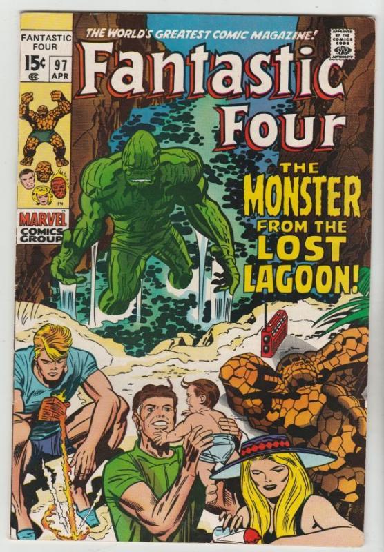 Fantastic Four #97 (Apr-70) NM- High-Grade Fantastic Four, Mr. Fantastic (Ree...