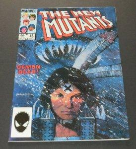 New Mutants #18 FN/VF Marvel Comic Book 1st App Warlock Superheroes Demon Bear