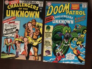 DOOM PATROL! #102 CHALLENGERS OF THE UNKNOWN #48 BRIGHT VF CLASSIC CROSS-OVER!