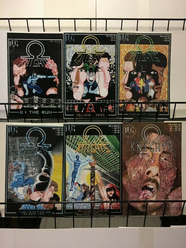 OMEGA KNIGHTS (1991 UNDERGROUND COMICS) 1-6  complete!