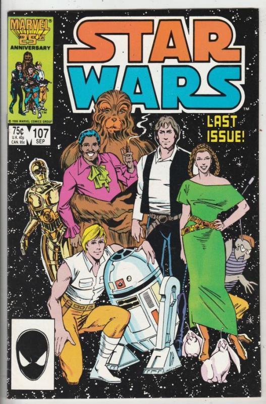 Star Wars #107 (Sep-86) NM High-Grade Luke, Han, Leah, C-3PO, R2D2
