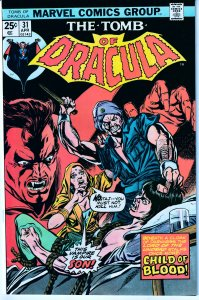 Tomb of Dracula(vol. 1) # 31  A Vampire Son !