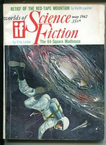 Worlds of If Science Fiction 5/1962-sci-fi pulp-Fritz Leiber-Jim Harmon-VG