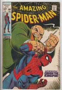 Amazing Spider-Man #69 (Feb-69) FN/VF Mid-High-Grade Spider-Man