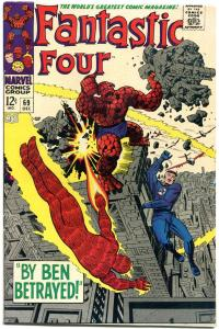 FANTASTIC FOUR #69, VF, Ben Betrayed, Jack Kirby, 1961, more FF in store, QXT