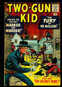 Two-Gun Kid #55 1960- Marvel Western- Jack Kirby- Deadly Dude- VG+